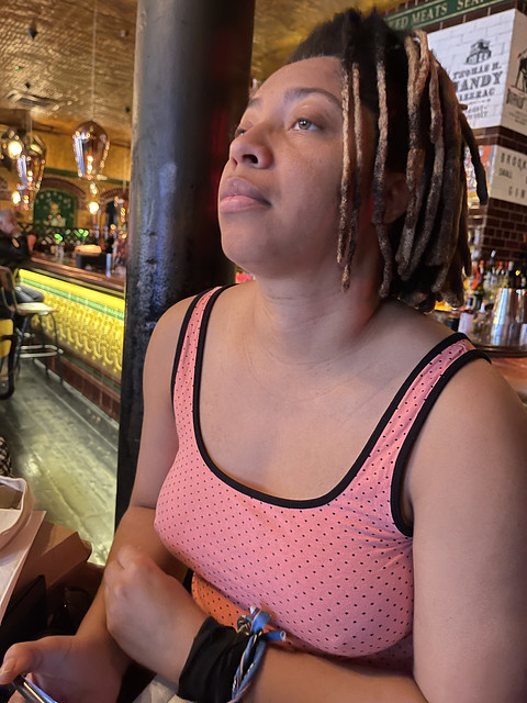 IMG_3319 Alesha from Jamaica out on the Town Portrait at The Blues Kitchen Curtain Road Shoreditch London