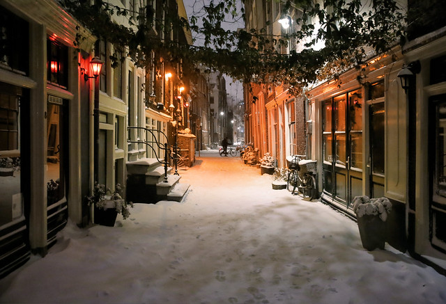 Cold winter image of a warm neighborhood