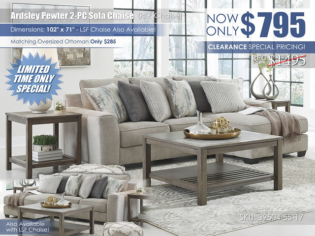 Ardsley Pewter 2-PC Sectional_Clearance_39504-55-17_2021