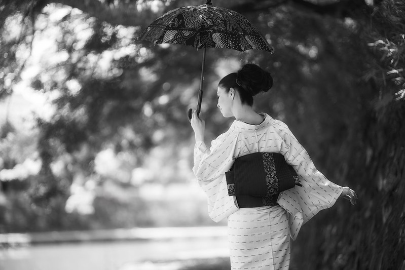 Japanese Kimono in early summer.