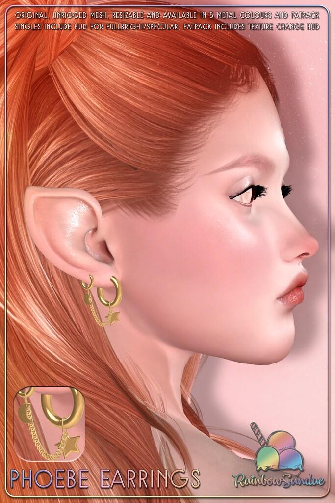 *Rainbow Sundae* Phoebe Earrings