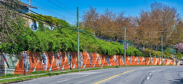 2021 - Vancouver - Clark Park Retaining Wall  Mosaics on Commercial Drive