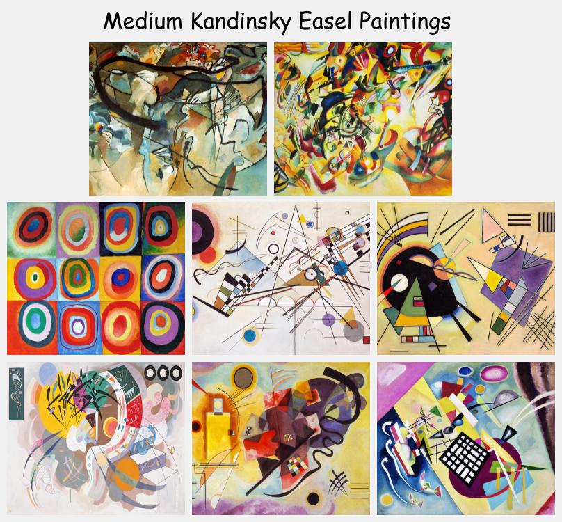 Medium Kandinsky Easel Paintings