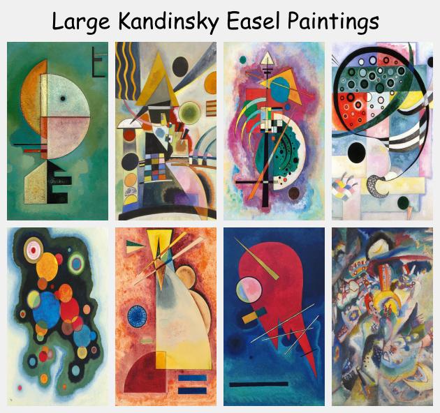 Large Kandinsky Easel Paintings