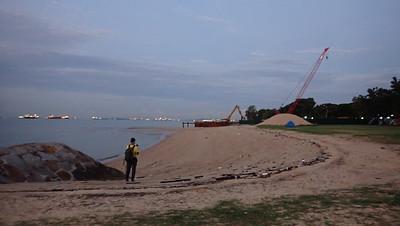 Construction at East Coast Park (near carpark F1) May 2021