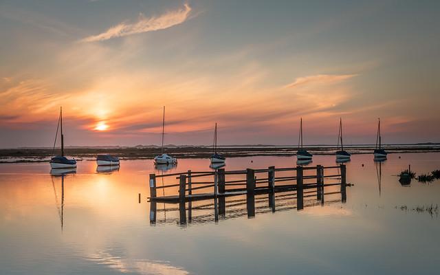 High Tide Sunset at Blakeney North Norfolk