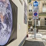 Earth photo on a wall in Preston