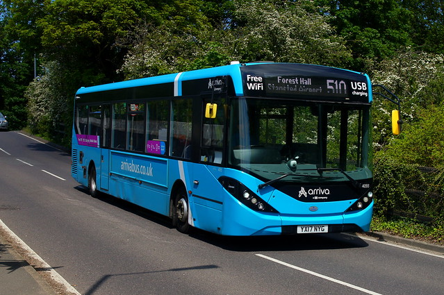 The New Normal: Arriva Harlow ADL Enviro200MMC YX17NYG (4093) Forest Hall Road Stansted Mountfitchet 29/05/21