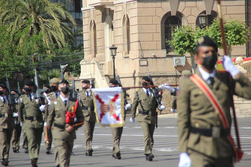 Acto del Día de las Fuerzas Armadas en el Acuartelamiento de El Bruch de Barcelona (Cataluña)