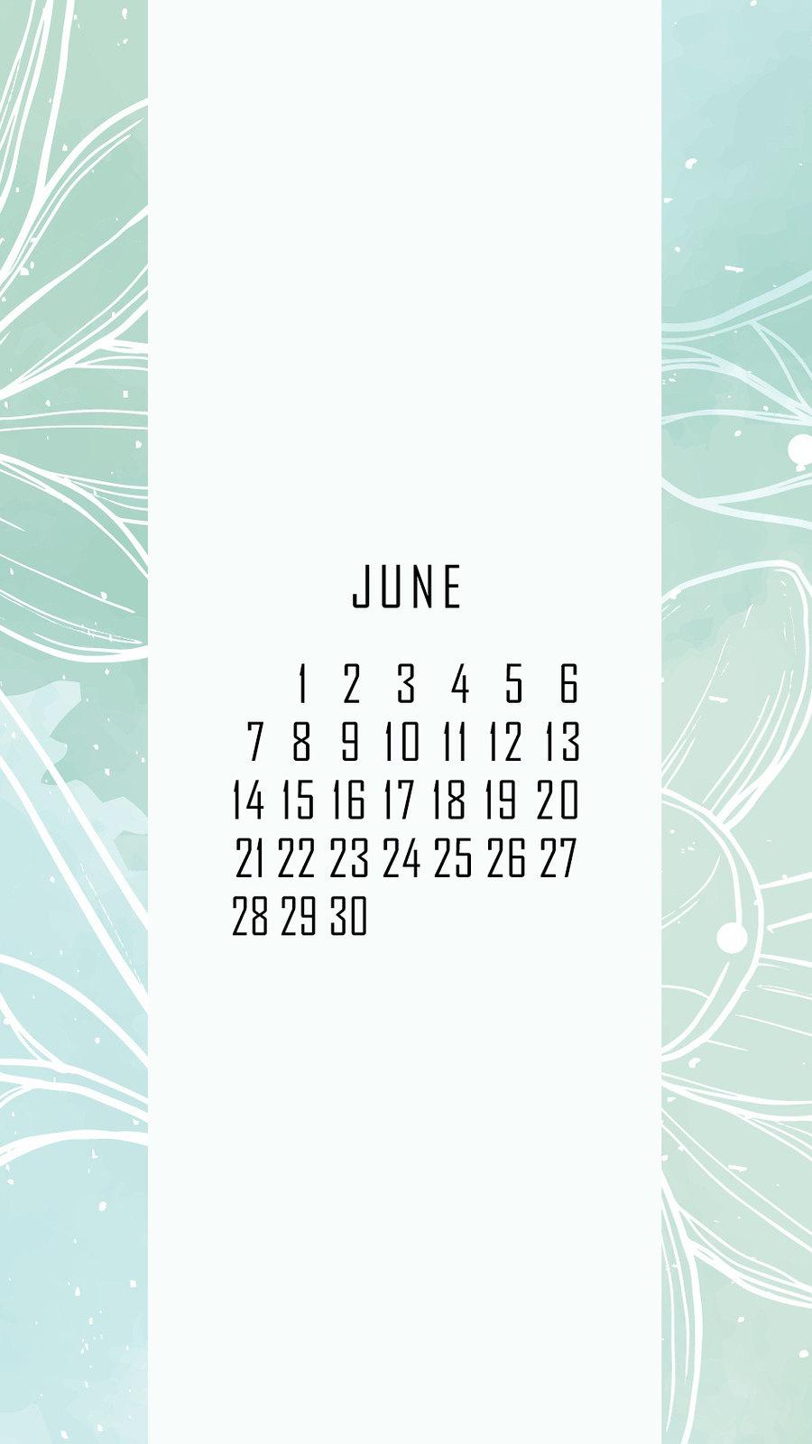 календарь на июнь '21, заставка на смартфон, district-f.org 6
