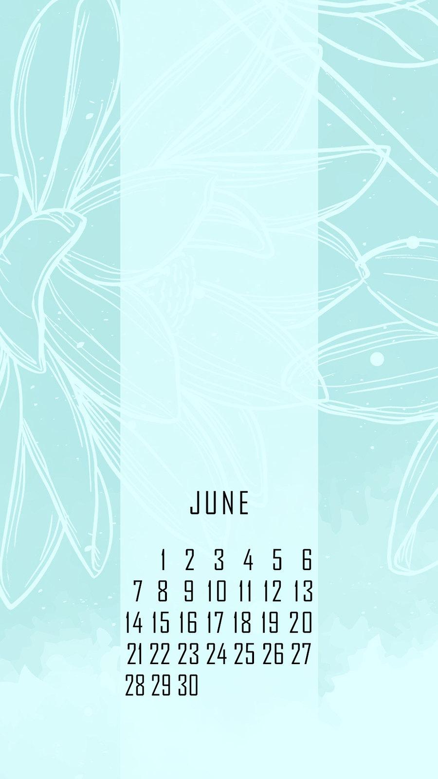 календарь на июнь '21, заставка на смартфон, district-f.org 5