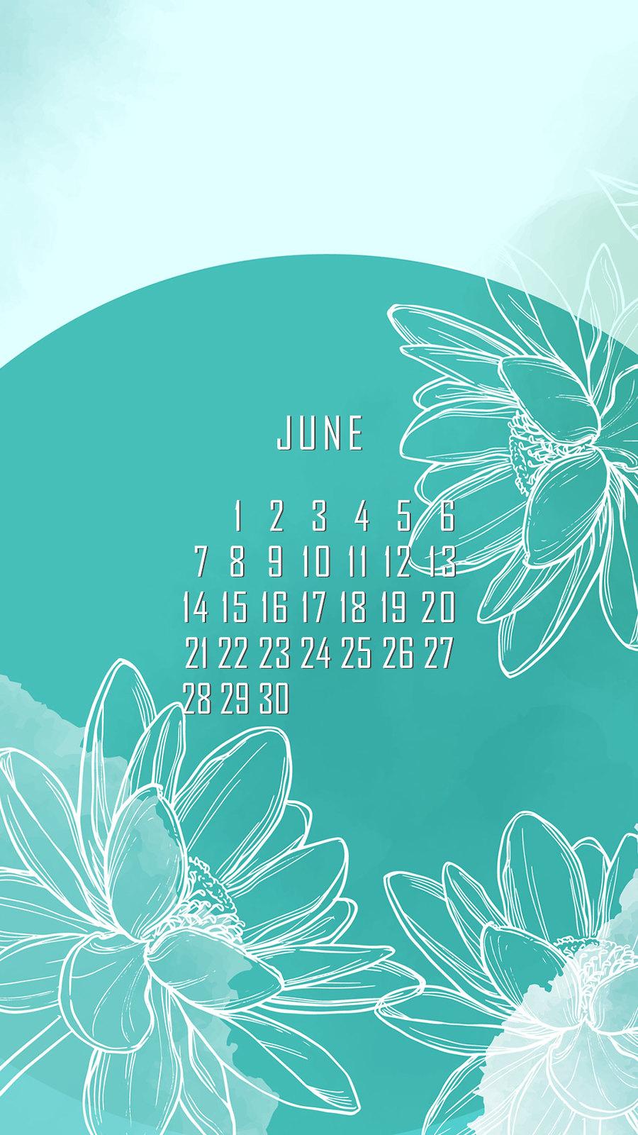 календарь на июнь '21, заставка на смартфон, district-f.org 4