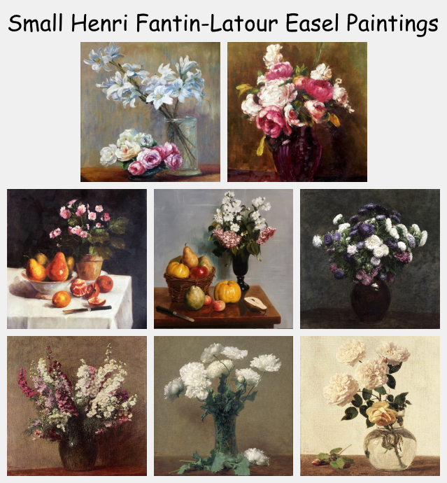 Small Henri Fantin-Latour Easel Paintings