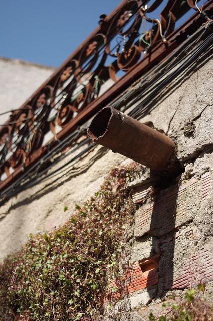 Rusted drainpipe