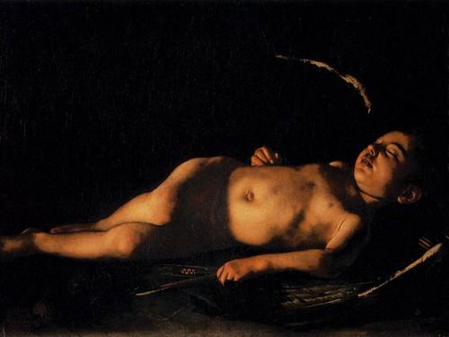 Caravaggio: Amore dormiente - galleria palatina