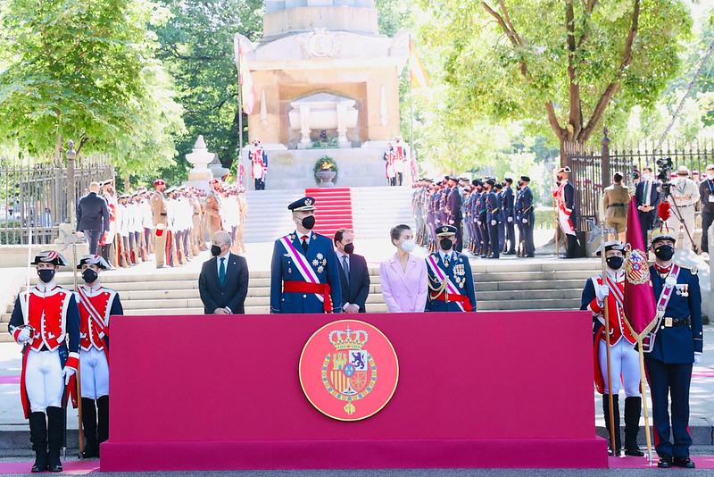 El rey Felipe VI preside el acto de la celebración del Día de las Fuerzas Armadas 2021 en Madrid