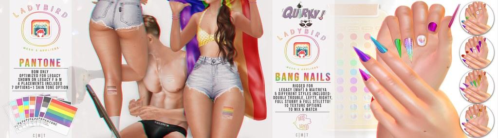 Ladybird. // Bang Nails & Pantone Tattoo for Pride at Home!