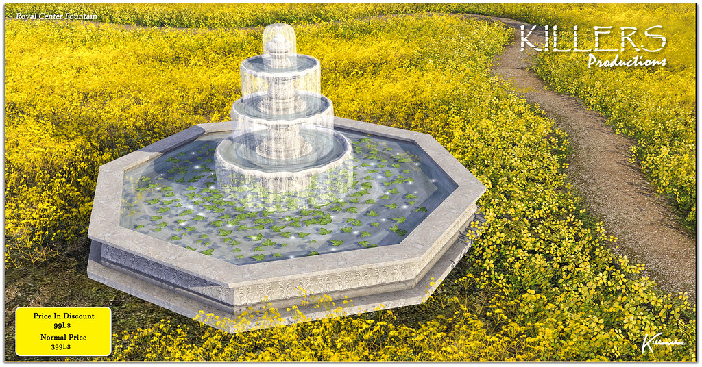 """""""Killer's"""" Royal Center Fountain Just @ 99L$ in inworld Store for weekend"""