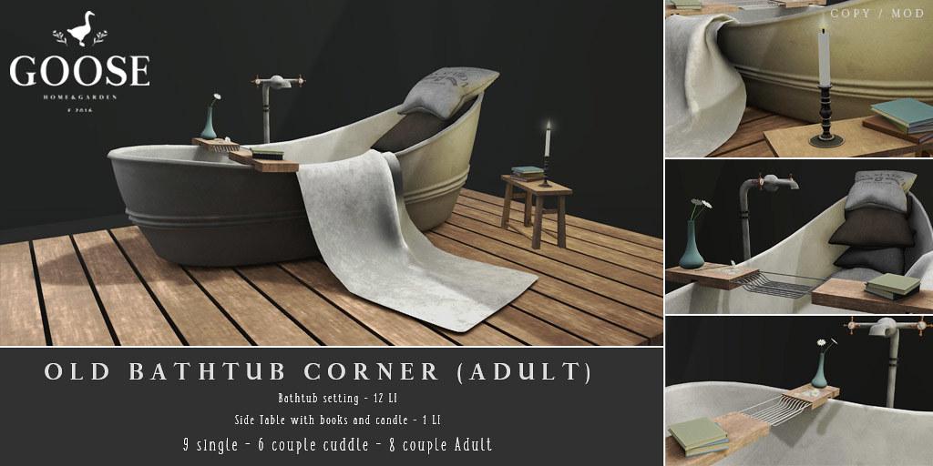 GOOSE – Old bathtub corner
