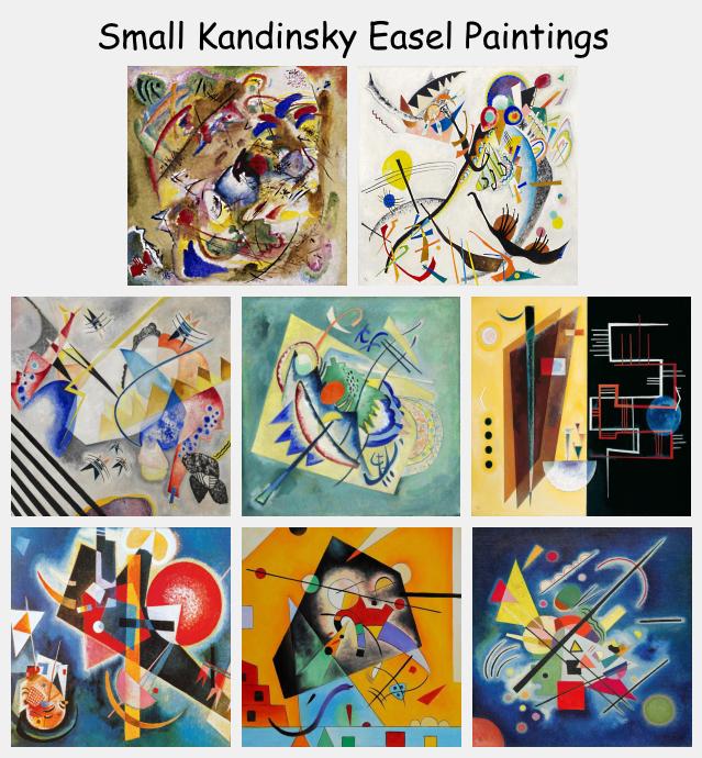 Small Kandinsky Easel Paintings