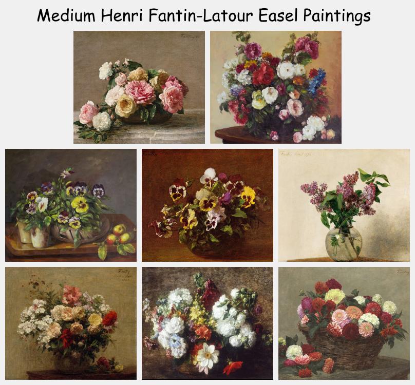 Medium Henri Fantin-Latour Easel Paintings