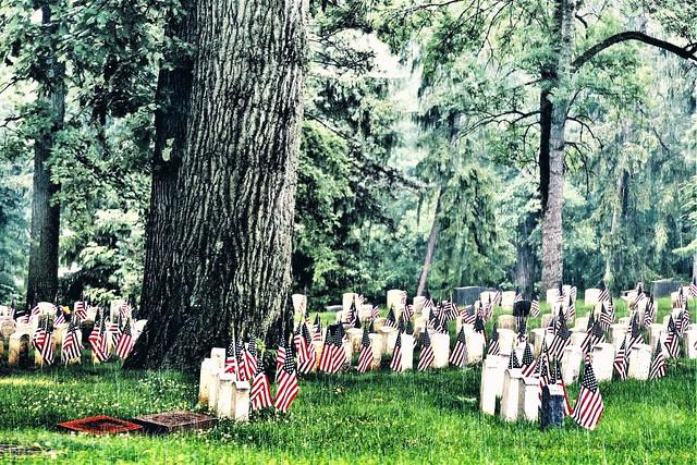 Woodland Cemetery in the Pouring Rain, Dayton, Ohio