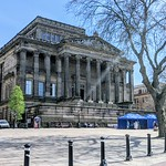 Centre of Preston with the Harris Museum