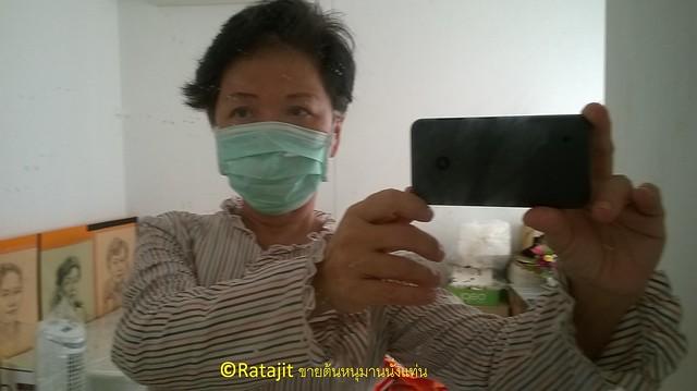 รตจิตร Ratajit wear face mask