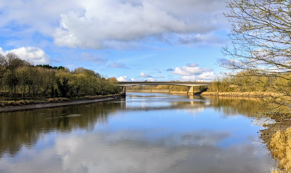 Mirror like River Ribble at Preston