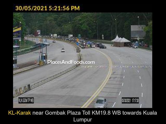 gombak toll trafic jam