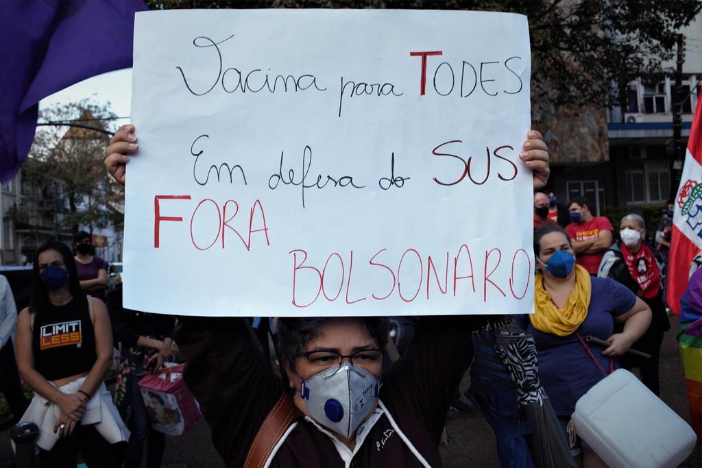 Protestos contra o governo Bolsonaro em Blumenau