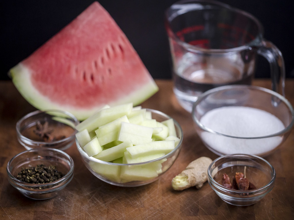 Asian Pickled Watermelon Rind