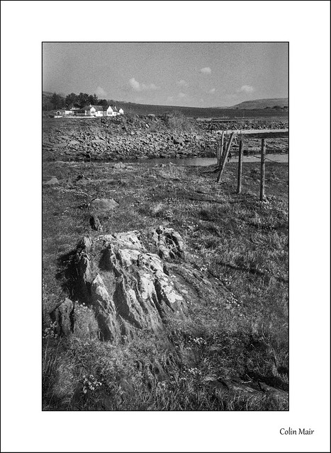 Rocks, Fence and House - Jupiter 12, 35mm, Portencross, 1/250th, f11, Hand Held, 17th April 2021