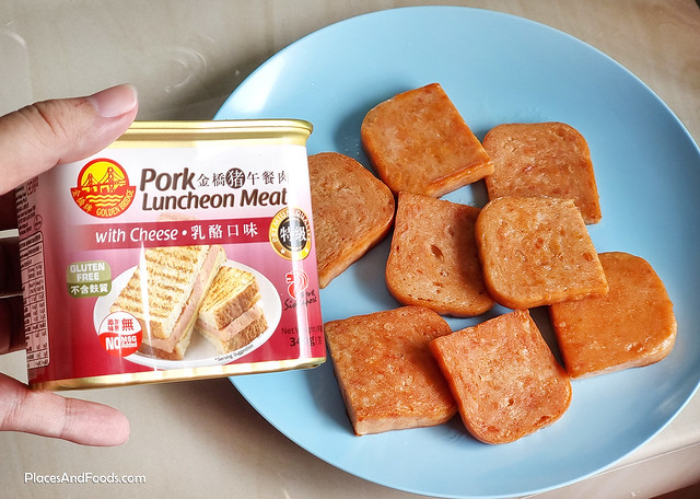 golden bridge pork luncheon meat with cheese