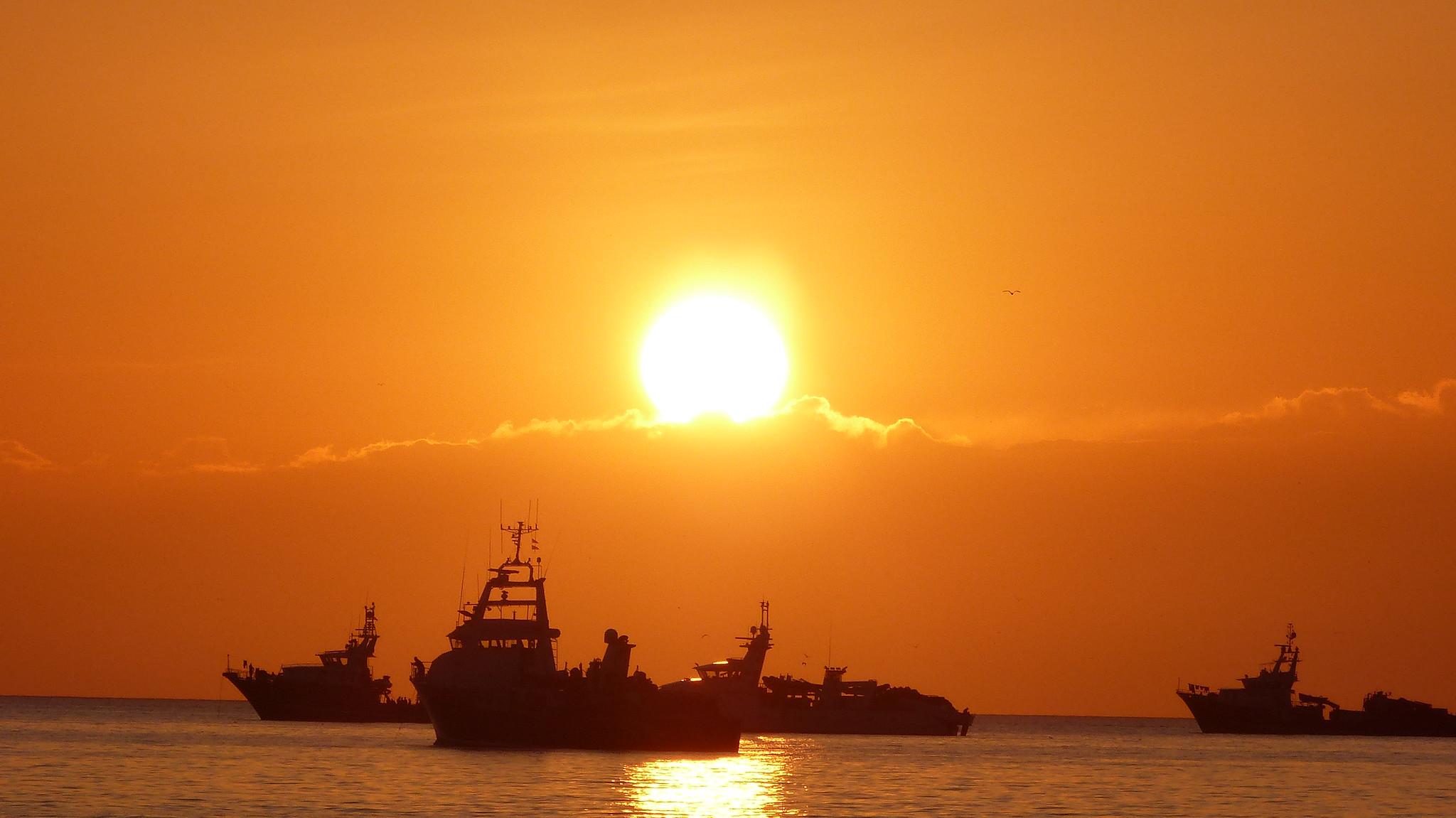 Puesta de sol en San Antonio, Ibiza, 26 de mayo 2021