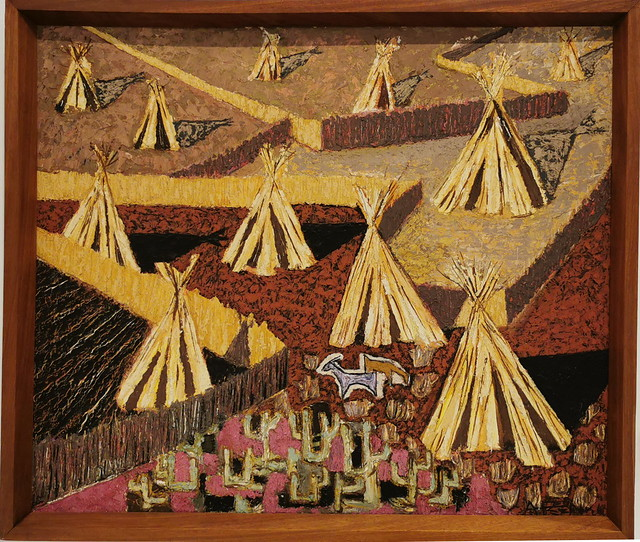 Cañas en el sur Cucañas 1960 oleo sobre cartón pintura Sala del Artista Casa Museo Antonio Padrón Gáldar Gran Canaria