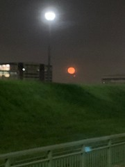Blood moon passing