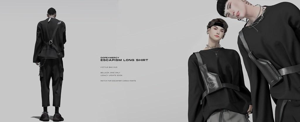 [Dope+Mercy]Escapism Long Shirt @Planet29