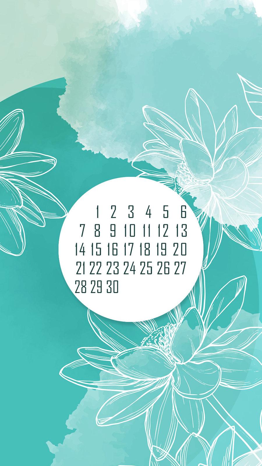 календарь на июнь '21, заставка на смартфон, district-f.org 3