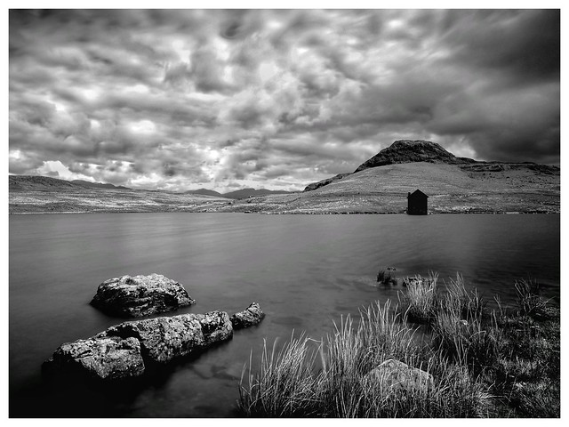 A moody Devoke Water, Lake District. UK
