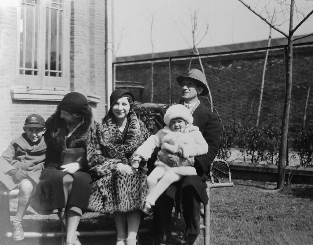 Harding Klimanek family portrait, Shanghai, ca. 1932