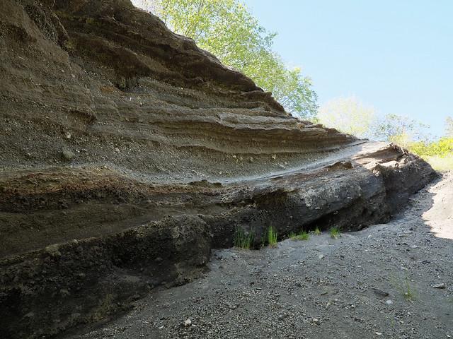 Lavagrube des Vulkans