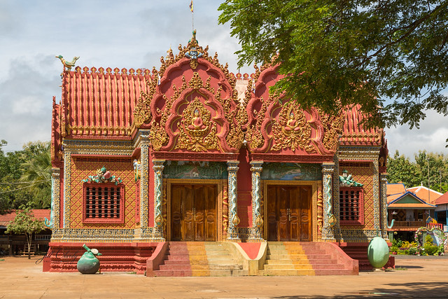 Armchair Traveling - A Temple at Wat Hanchey, Cambodia