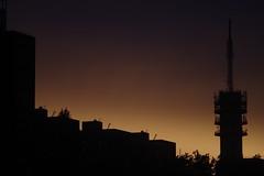 Zendmast Bezuidenhout by sunset