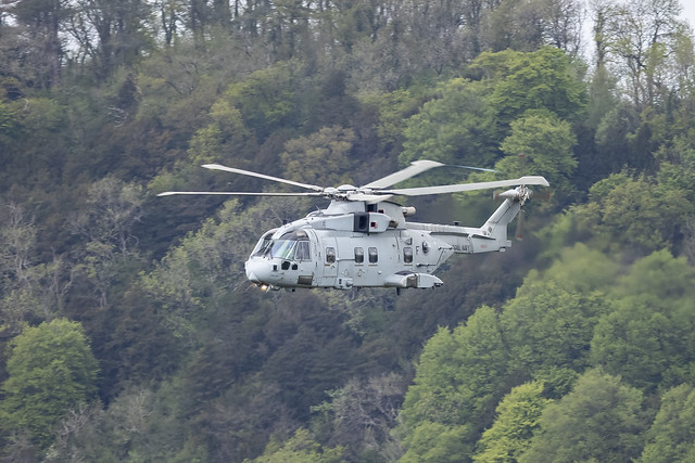 The Merlin. JUNGLY50 from RNAS Yeovilton, lower Wye valley