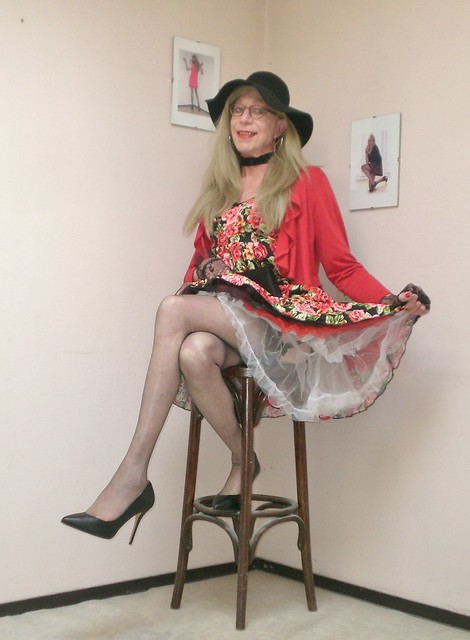 Summer dress and petticoat.