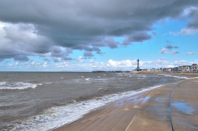 Stormy clouds over Blackpool