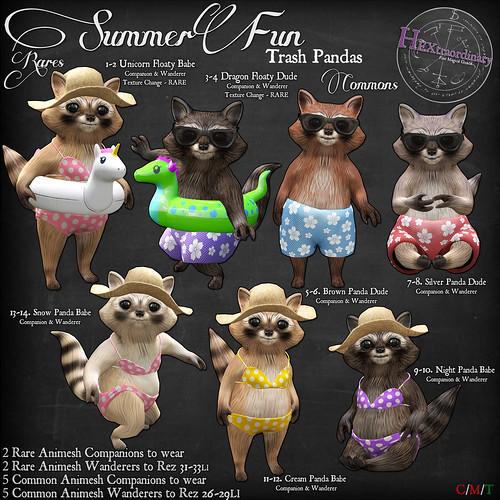 HEXtraordinary - Summer Fun Trash Pandas - The Arcade