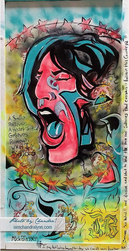 Mick Jagger with Frame