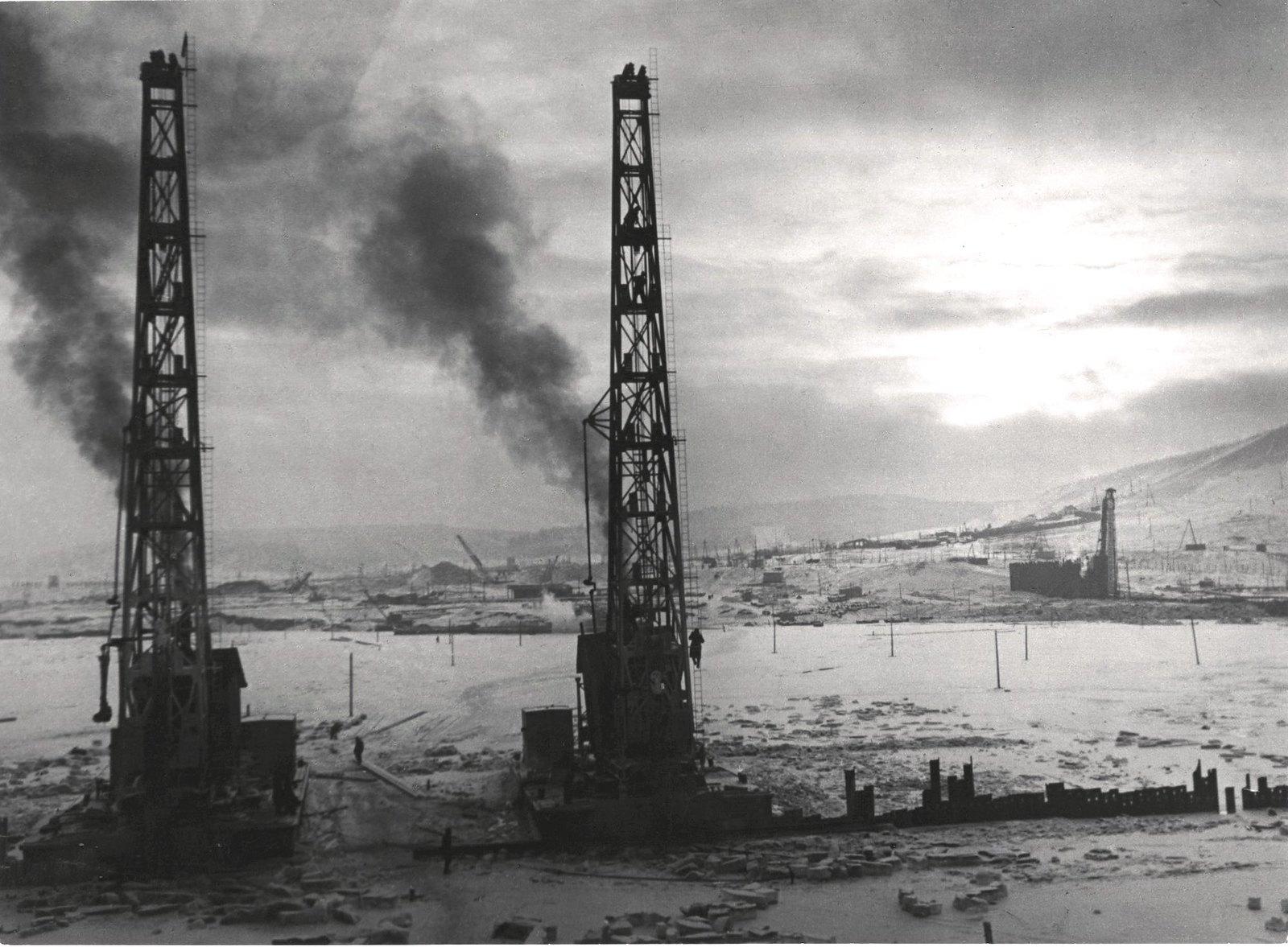 1950-1952. Стройка Куйбышевской ГЭС